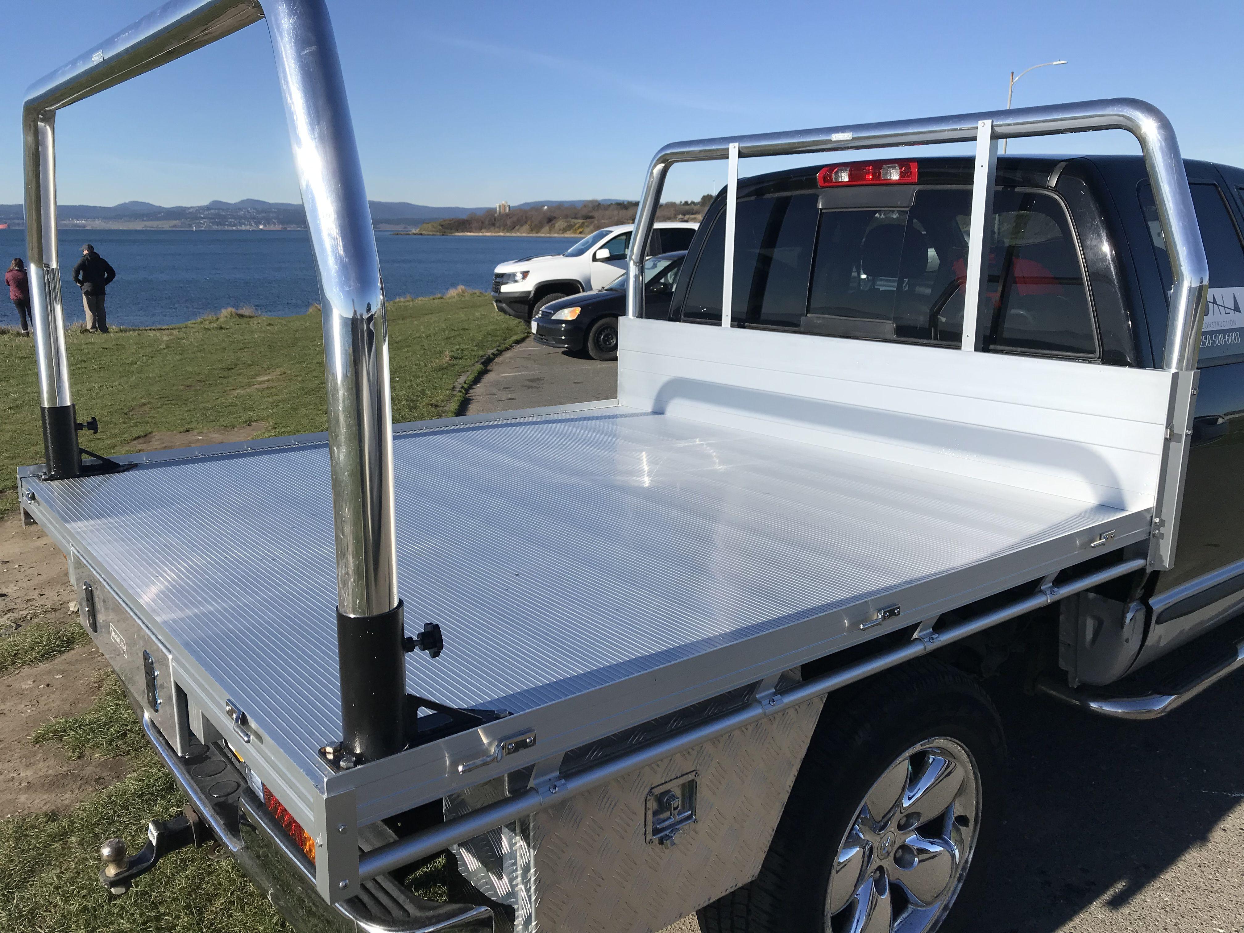 Aluminum 7'x7' flat bed Flat bed, Tool box storage