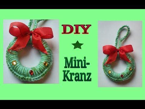 Häkeln für Weihnachten : Mini - Kranz - YouTube | Weihnachtsdeko ...