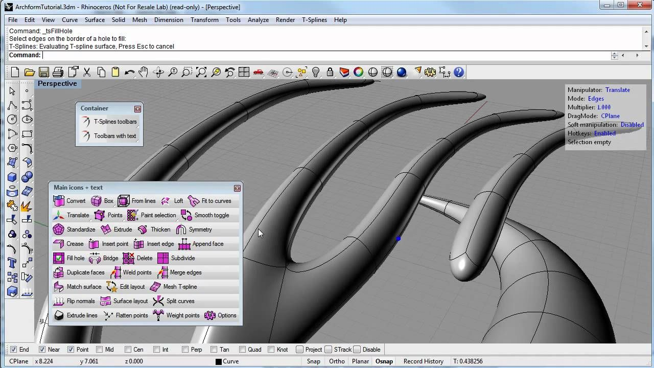 Architectural form with t splines for rhino 3d modeling architectural form with t splines for rhino baditri Choice Image