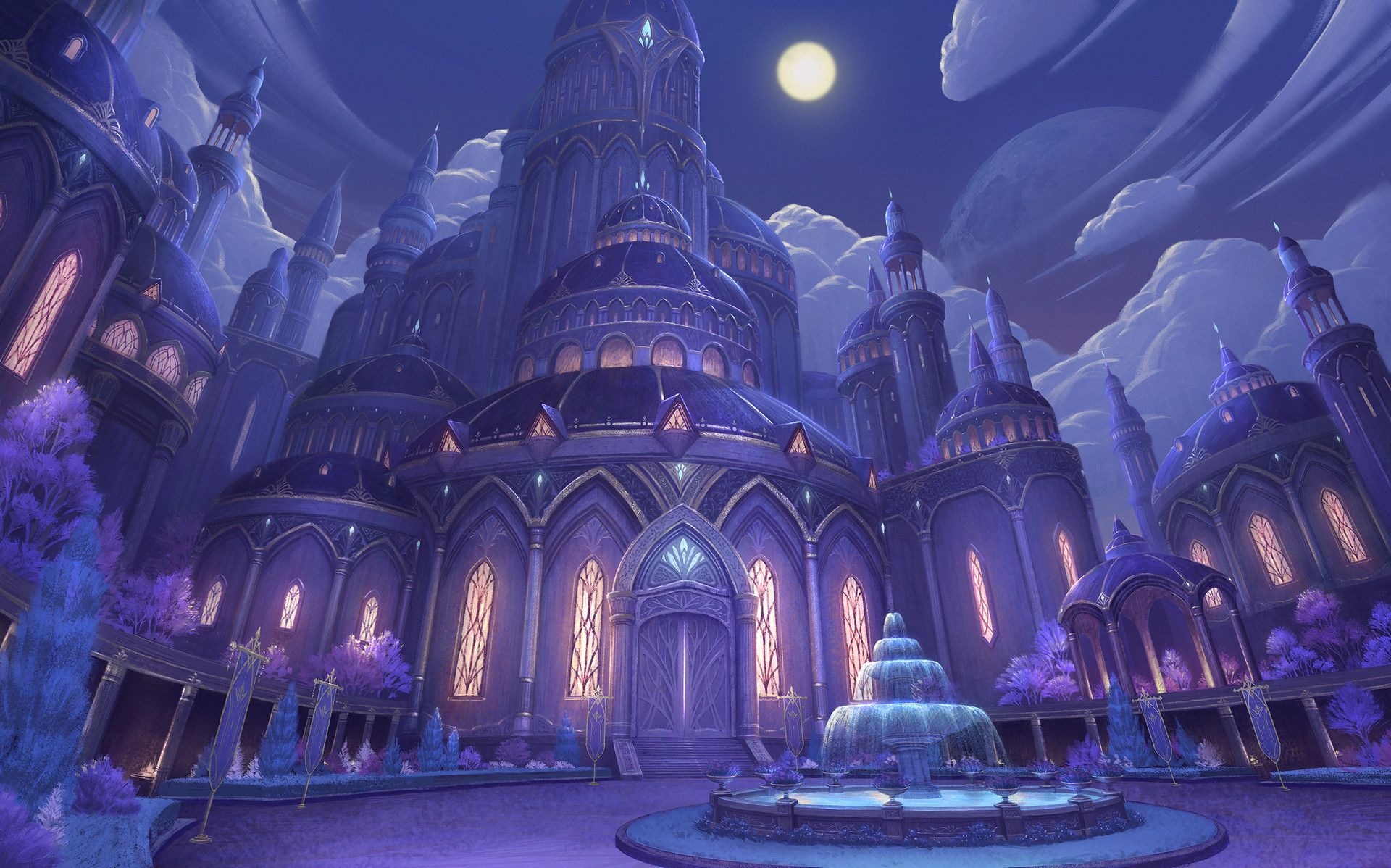 39 Blade 39 Concept Art Theme04 Elysion Temple Of Light Mobile Action Rpg Project Copyright 2014 201 Anime Places Anime Scenery Wallpaper Fantasy City