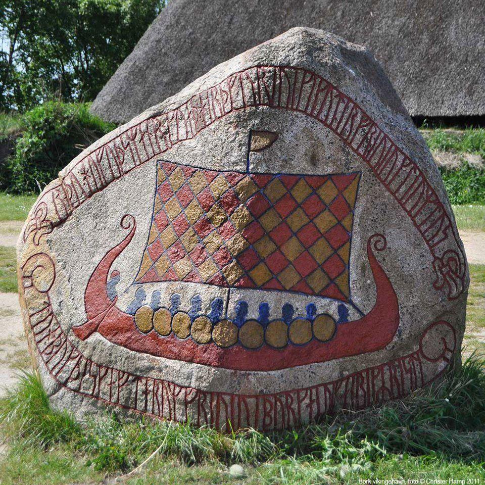 Vikings:  A #Viking long ship.