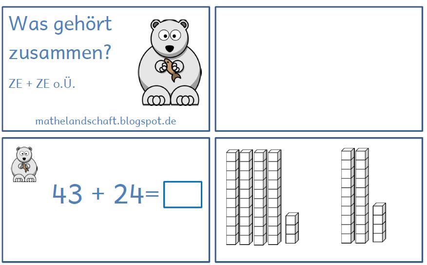 Freiarbeit: Legekarten --> Additionsaufgaben im ZR 100 ...