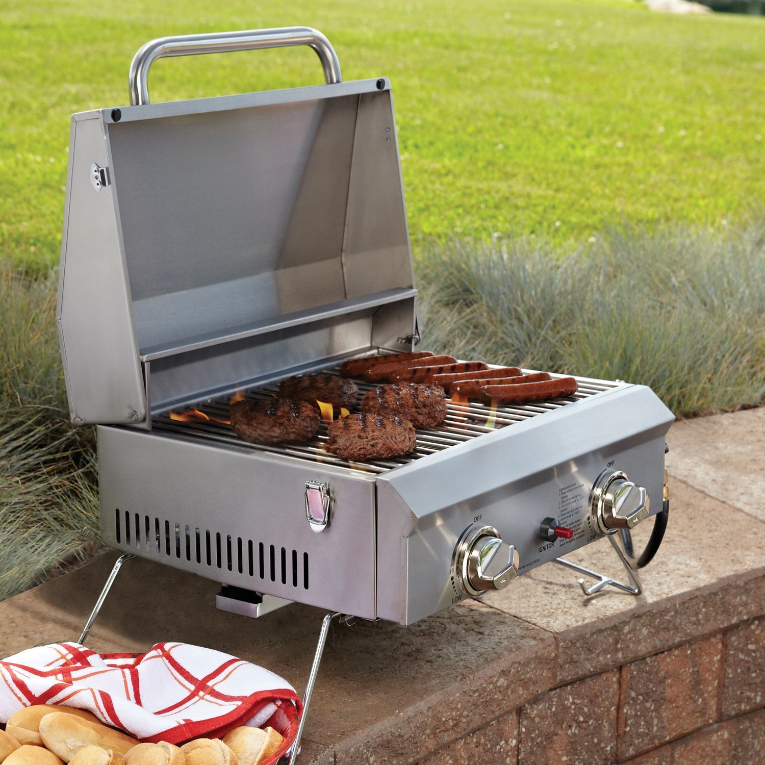 Captivating Memberu0027s Mark Portable Stainless Steel Gas Grill With Cover   Samu0027s Club