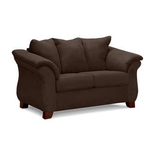 Adrian Chocolate Loveseat Love Seat Value City Furniture