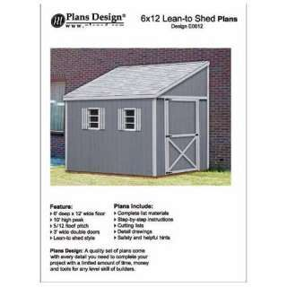 How To Build A Storage Shed, Lean To Style Shed Plans, 6