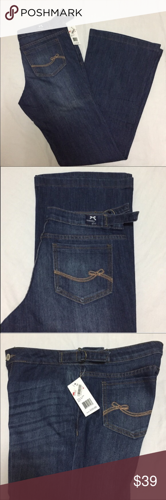 Blue jeans New with tag tommy girl wide bootcut blue jeans 👖 macys Jeans Boot Cut