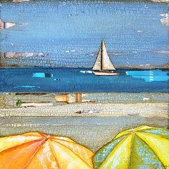 Beach Umbrella Featured Images - Hundred Percent Chance of Sun Showers  by Danny Phillips