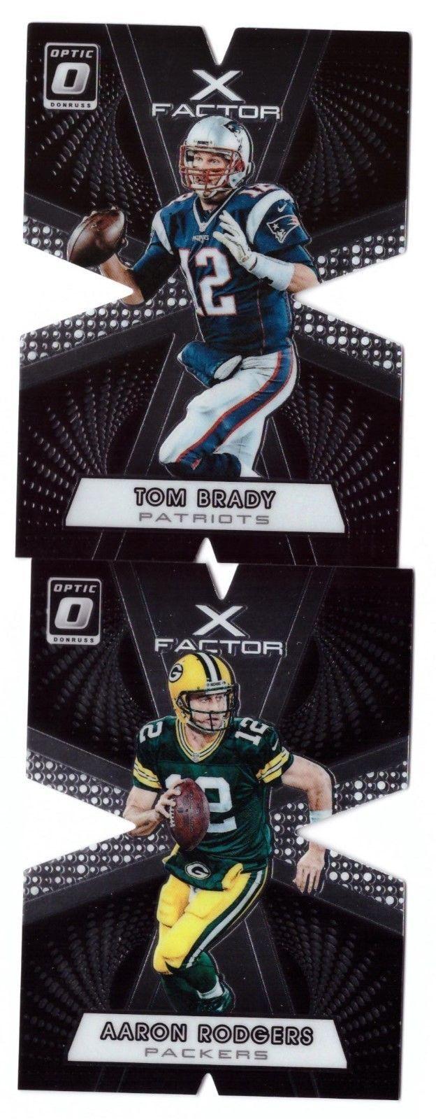 2016 Panini Optic Tom Brady Aaron Rodgers X Factor Cards Aaron Rodgers Tom Brady