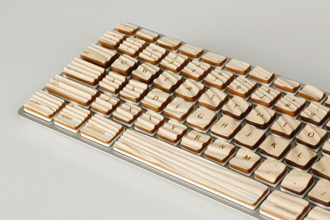 Wooden Keyboard For Easy Typing