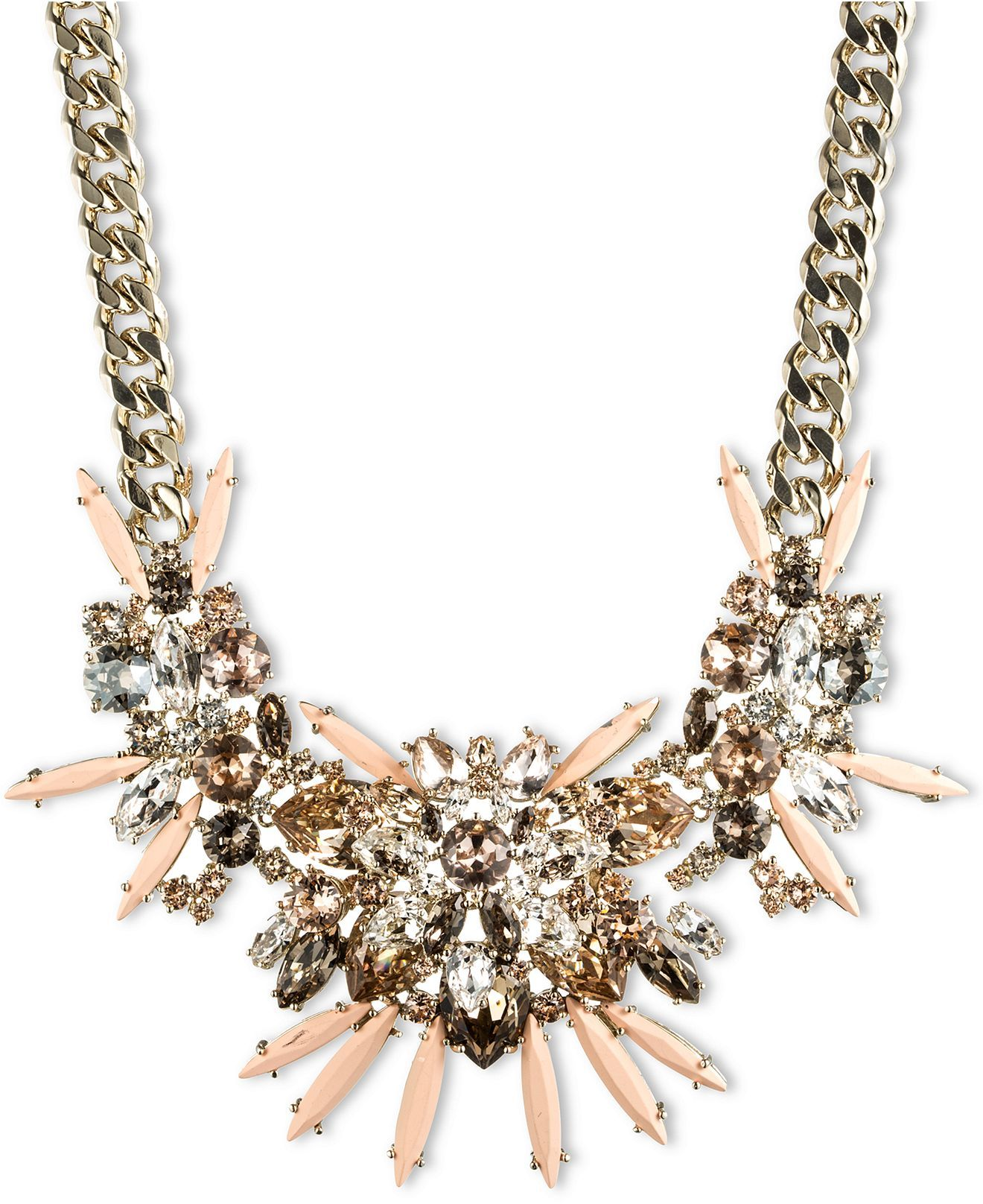 Givenchy 10k Gold Plated Colorful Crystal Statement Necklace Fashion Jewelry Jewelry Watches Crystal Statement Necklace Jewelry Fashion Jewelry Necklaces