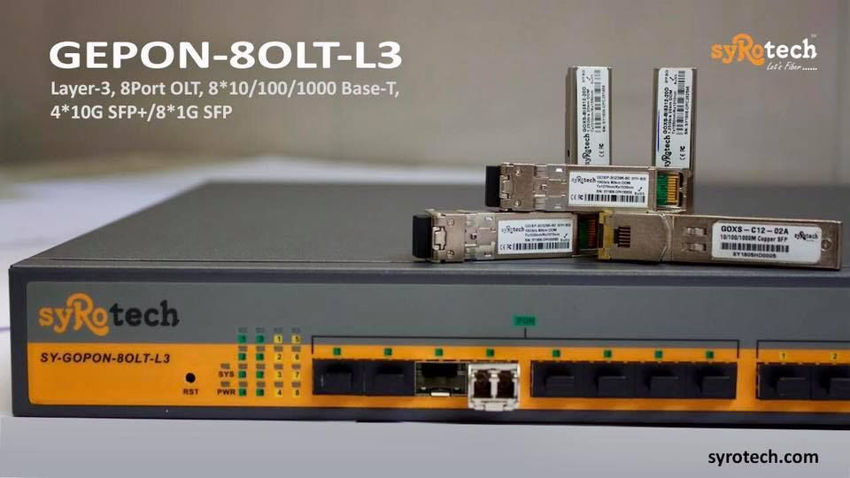 Syrotech Gepon 8 Port L3 Olt With Our 4 10g Sfp And 8 1g Sfp The Ultimate Combo Call Us Today For More Information Letsf Networking Fiber Optic Port