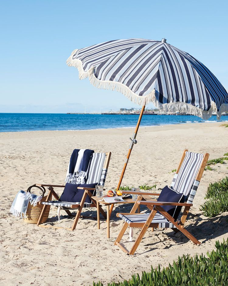 Turn Your Backyard Into The Italian Riviera With Serena Lily S Summer Line Beach Chairs Best Beach Chair Beach Chair Umbrella