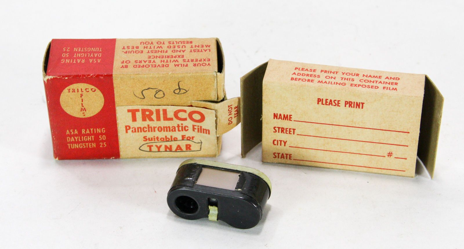 Trilco Panchromatic Film In Cassette For Tynar 16mm Spy Camera In Box 24 Exp
