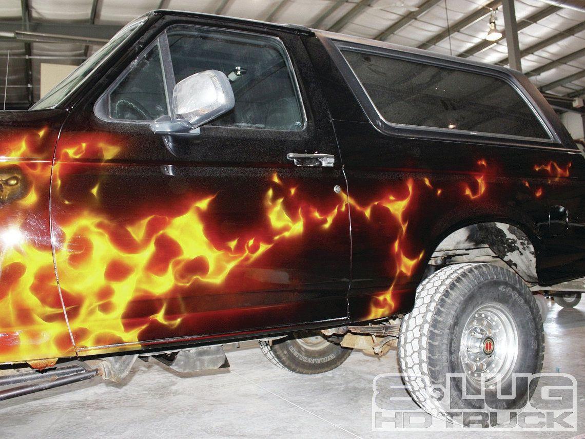 custom flames  cars mob scene custom paint market ford