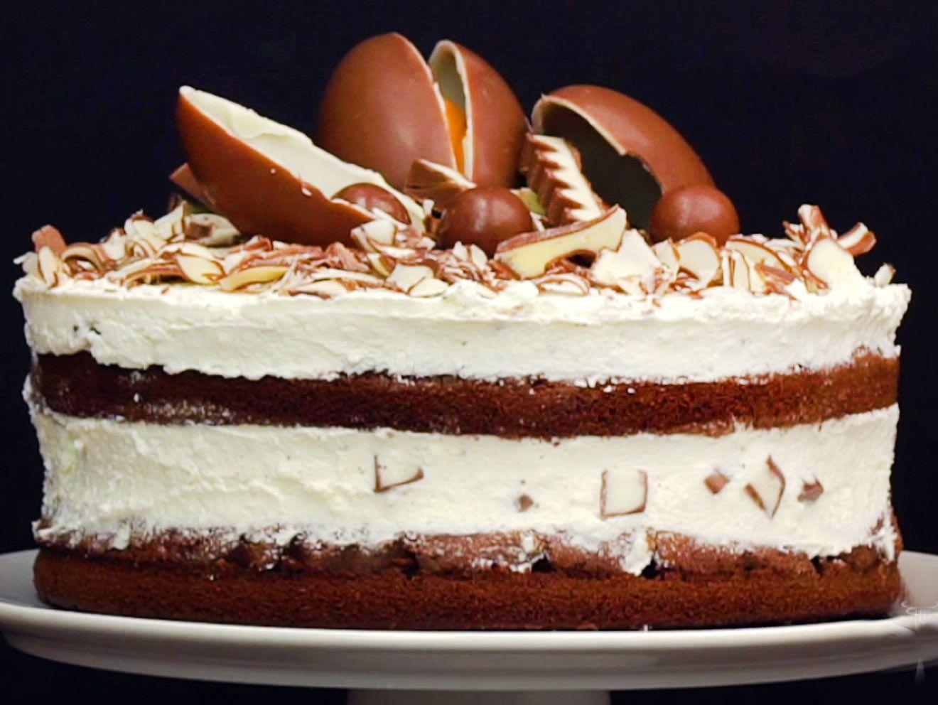 Kinderschokolade Torte Backen So Geht S Kinderschokoladen Torte Rezept Kinderschokoladen Kuchen Torte Ohne Backen
