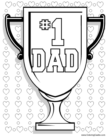 Free printable Dad coloring page for Fathers Day This cute