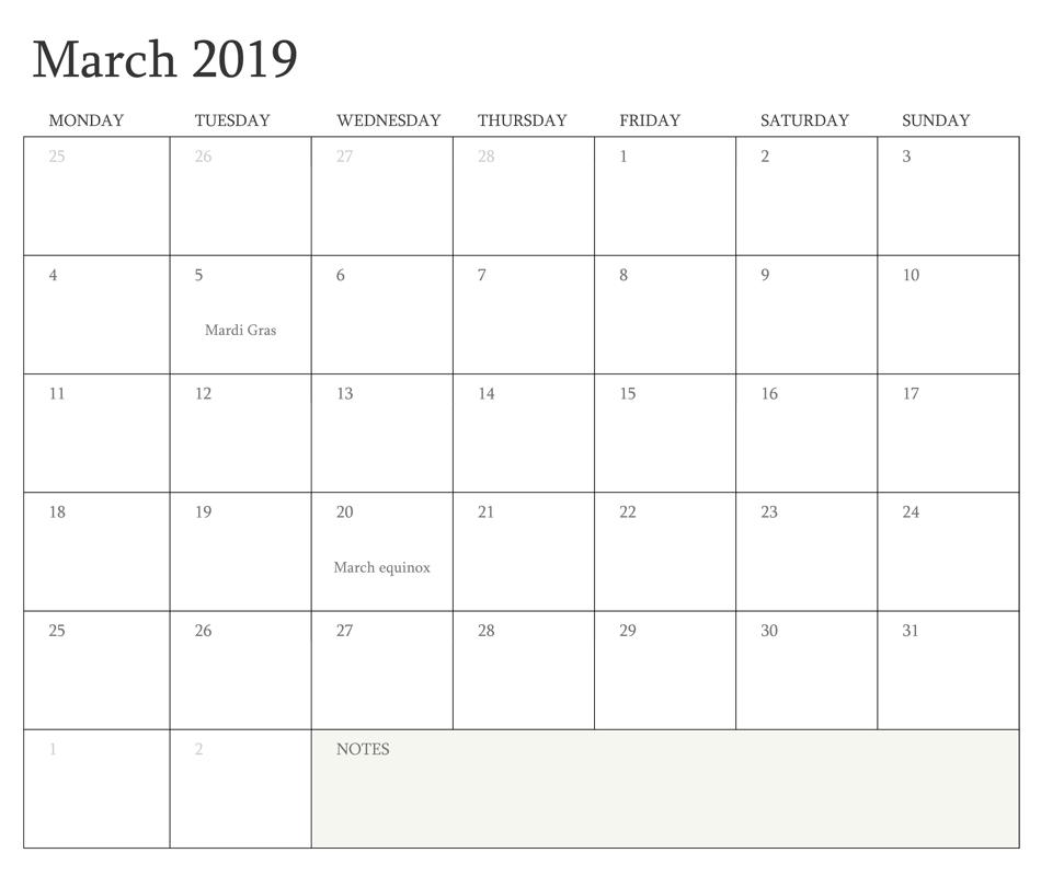 Free Word Calendar 2019 March 2019 Printable Calendar Word | 100+ March 2019 Calendar