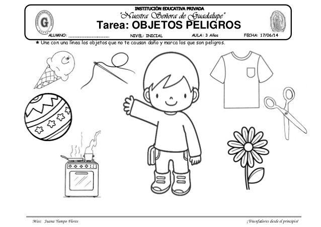 Objetos Peligrosos Para Niños De Inicial Imagui Activida