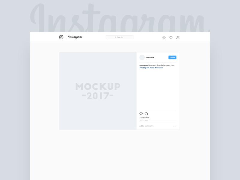 Instagram Post Mockup Freebie Mockuplove Instagram Mockup Instagram Posts Mockup
