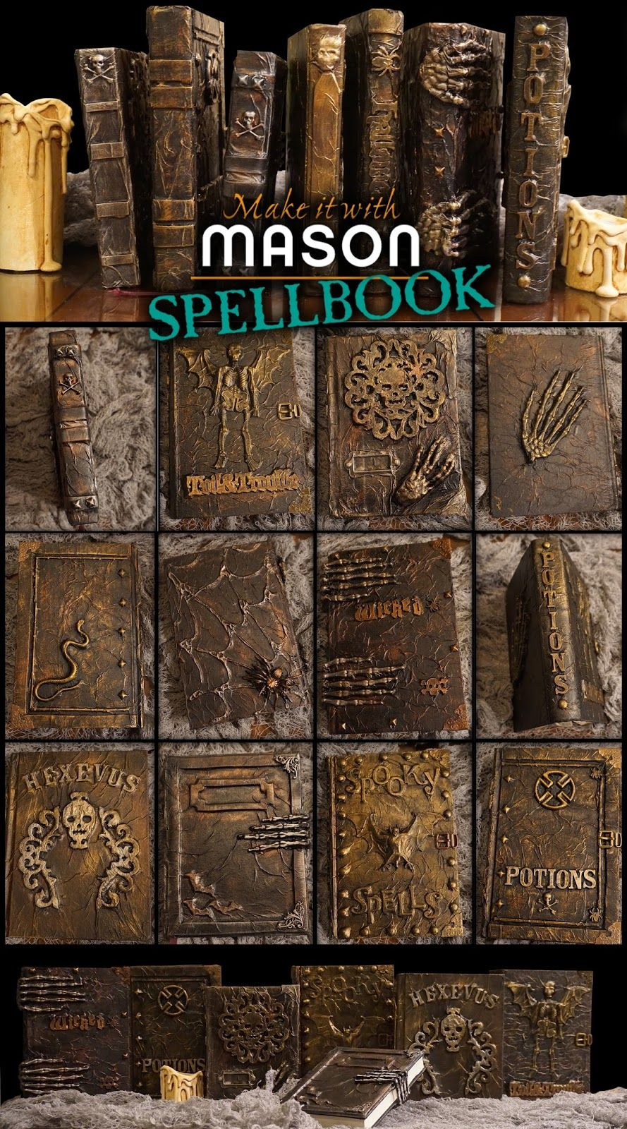 Halloween Book Cover Ideas ~ A mason says what make it with spell books