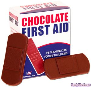 Chocolate First Aid Bandages 7 Piece Box Nurse Party Medical Party Nursing Graduation Party