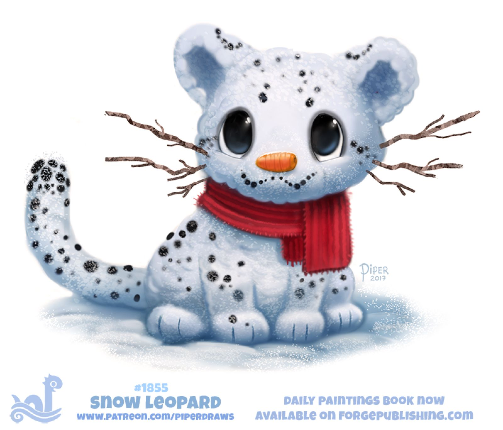 Daily Paint 1855 Snow Leopard By Cryptid Creations On Deviantart