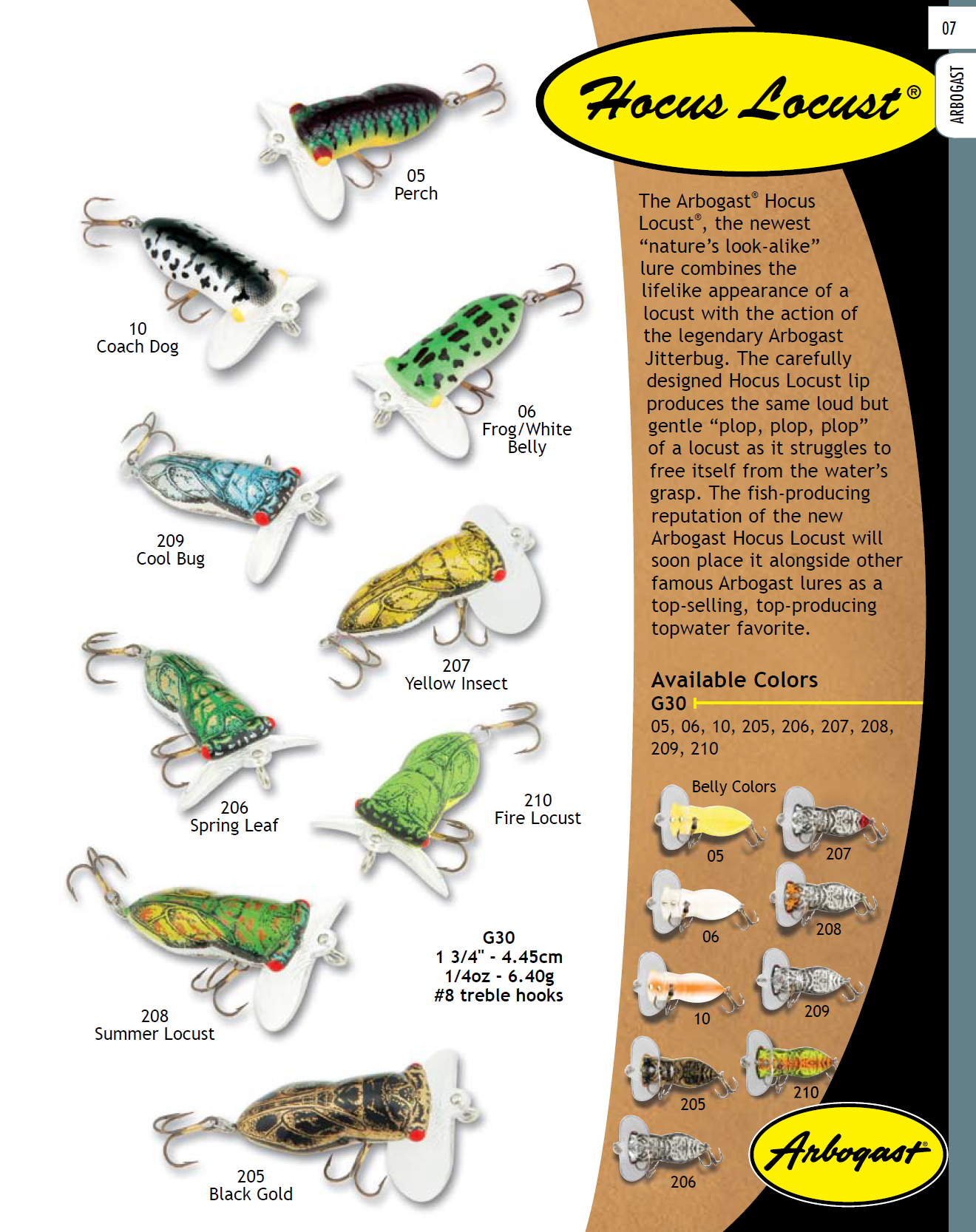 Arbogast hocus locust 2009 color chart fishing lure color charts we are sharing 3 of the top 10 brand new bass lures find this pin and more on fishing lure color charts nvjuhfo Gallery
