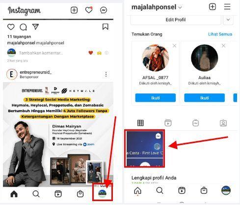 cara share igtv ke story instagram