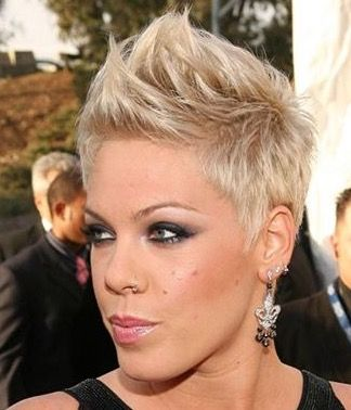 Fauxhawk Female Tapered Fauxhawk Short Hair Styles Hair Styles Short Hair Styles Pixie