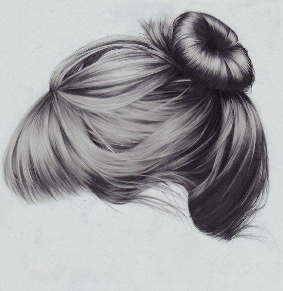 Nice hair drawing art