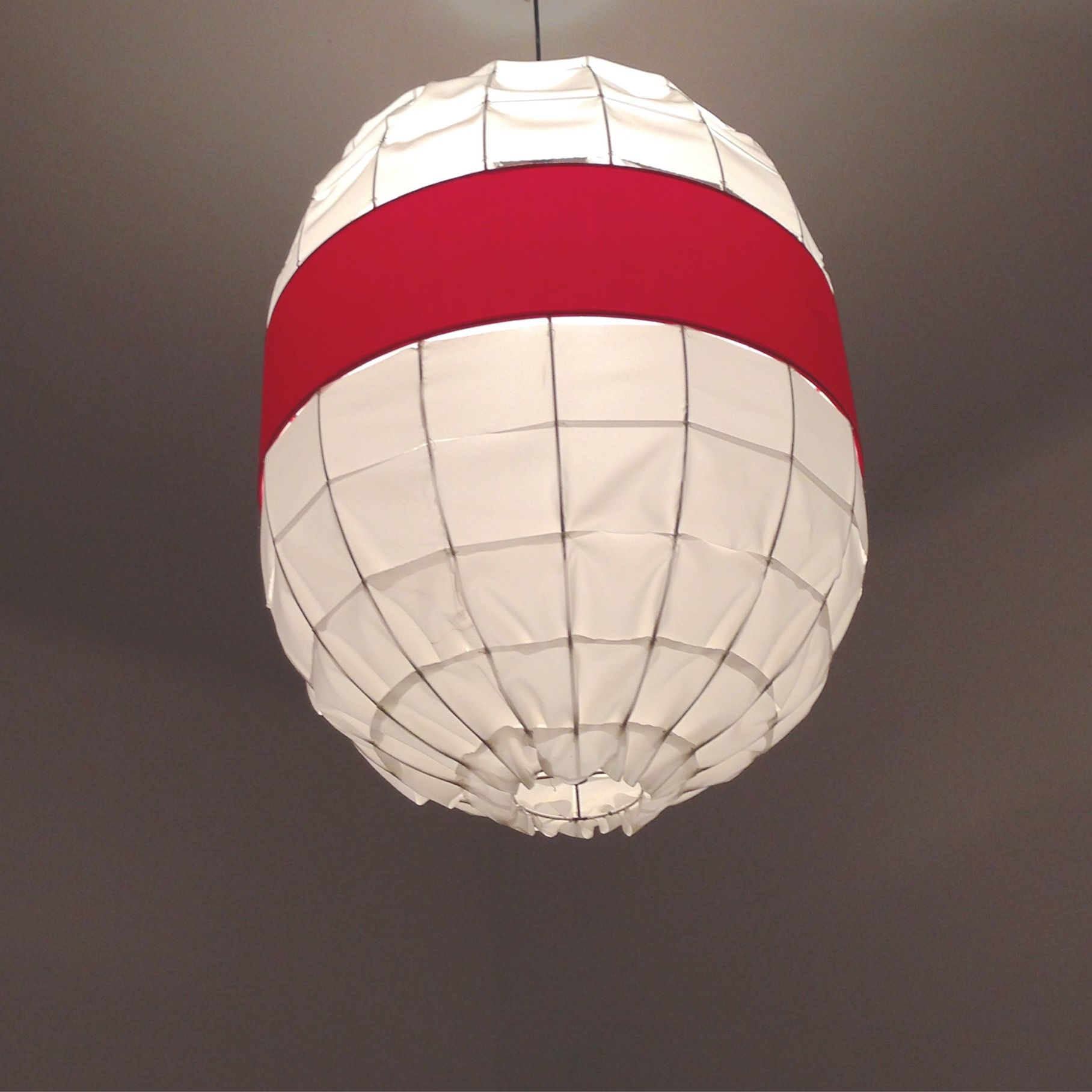 This lamp is look like japanese flag or lampion it is handmade with home arubaitofo Image collections