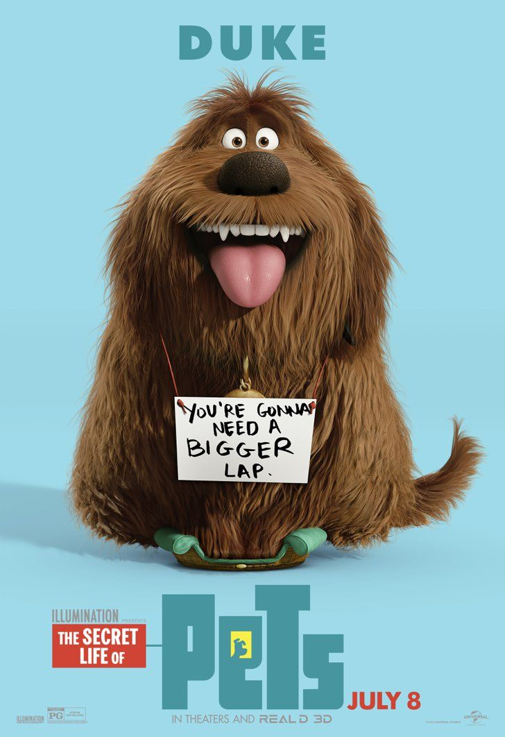 Pin for Later: The Secret Life of Pets Character Posters Are Here, and They're Cuter Than the Trailer