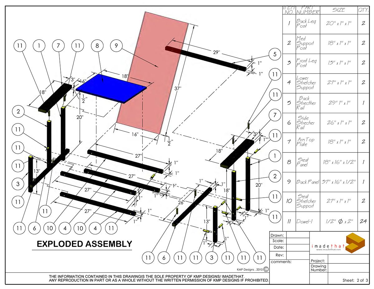 The Red and Blue Chair, one of history's early ... Gerrit Rietveld Chair Plans