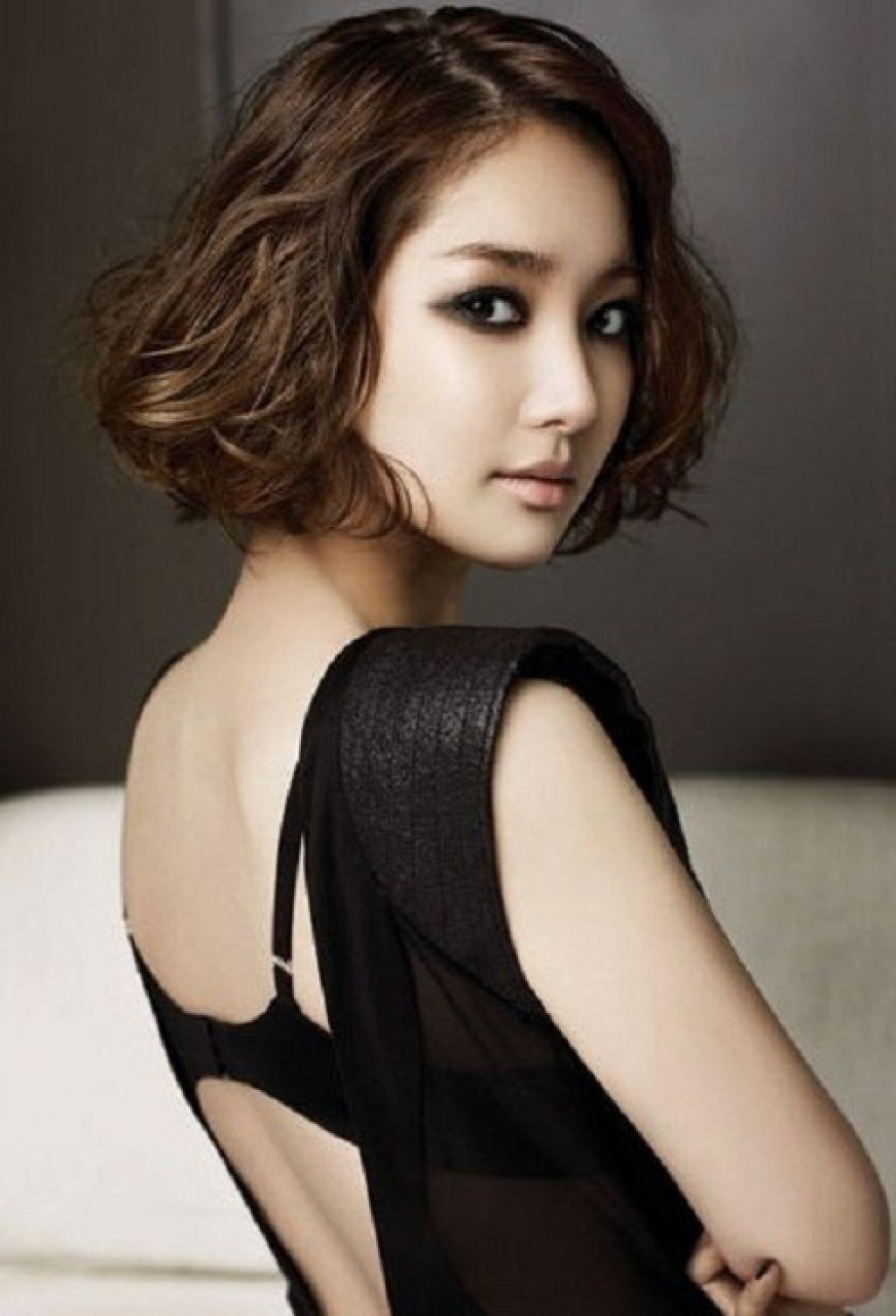 easy short korean curly hairstyles   bob hairstyles   pinterest