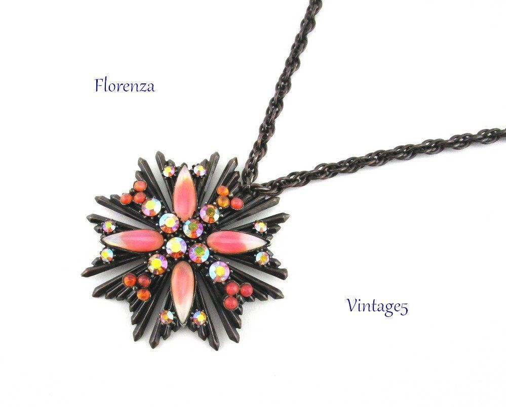 Florenza Maltese Cross Pendant Necklace Cross Pendant Necklace Cross Pendant Necklace Etsy