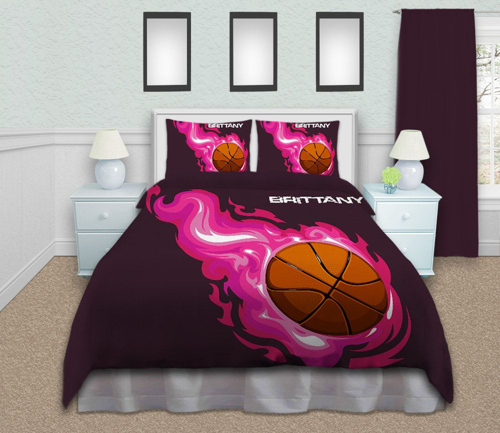 Basketball bedding sets twin queen king by eloquentinnovations emma 39 s bball room - A nice bed and cover for teenage girls or room ...