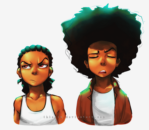 2005 The Boondocks 39 The Garden Party 39 S01e01 A Twist On The Original Art Style Somewhat