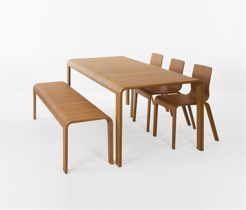 Eco Friendly Bamboo Dining Table Design For Dining Room