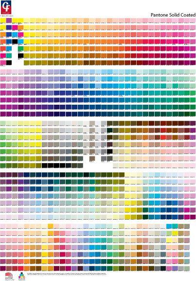 Full Pantone Solid Coated Chart Pantone Color Chart Color Chart Pantone