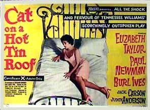 CAT ON A HOT TIN ROOF Movie POSTER 27x40 Paul Newman Burl Ives Elizabeth Taylor
