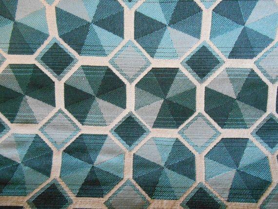 Barrow S Teal Aqua Black Grey Contemporary Octagon Pattern