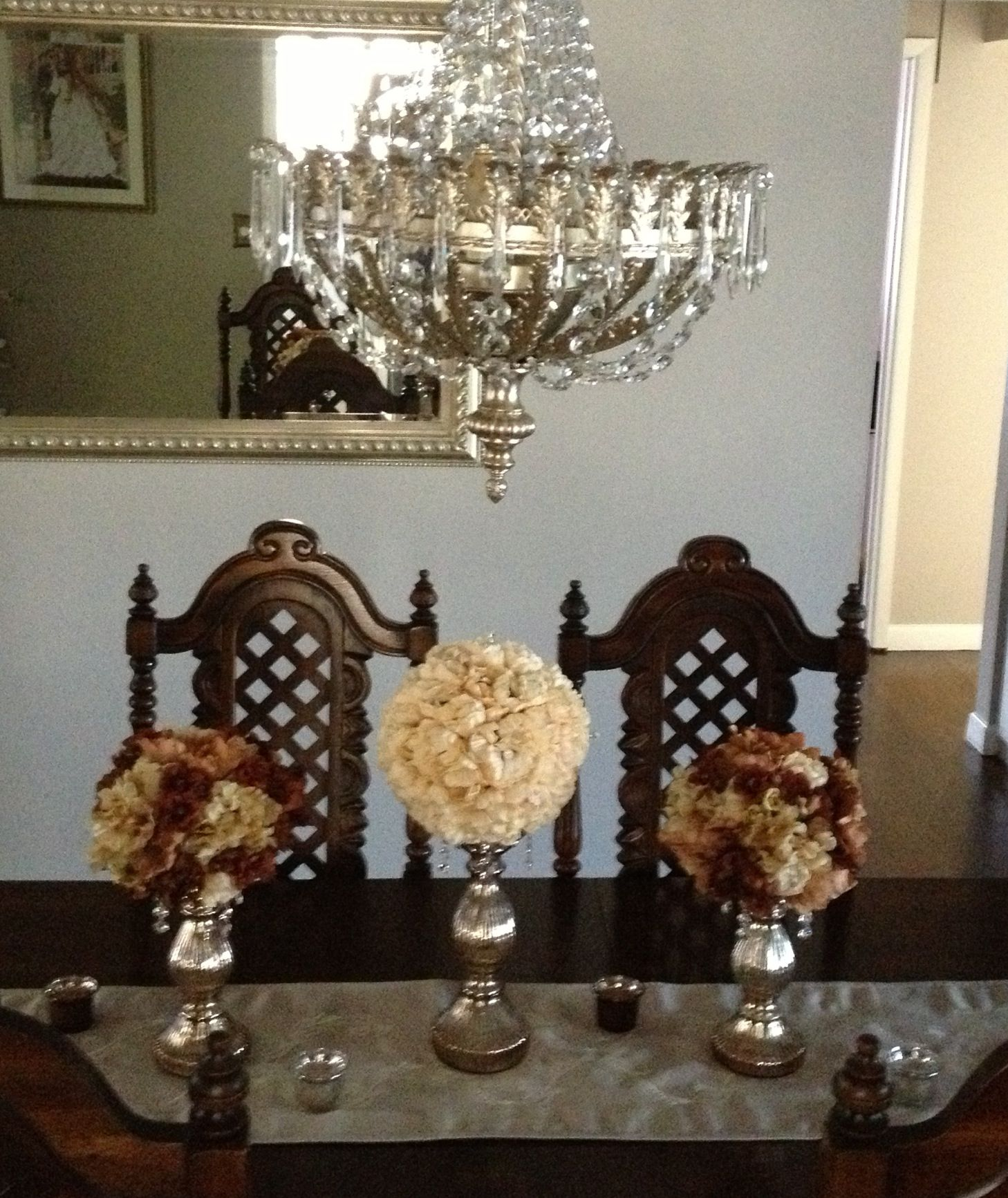Dining Room Table Decor | Centerpieces | Pinterest | Dining room ...