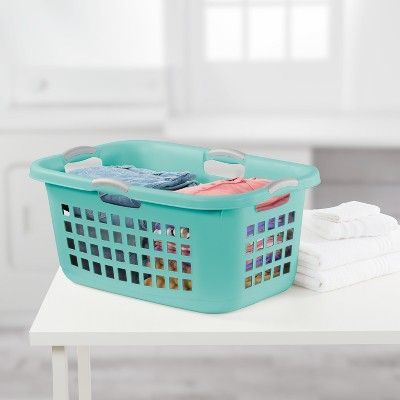 Laundry Baskets Bushel Ultra Aqua Chrome Sterilite Room Essentials Laundry Basket Laundry Room Essentials