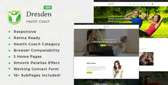 dresden wordpress theme for fitness and life coaching website