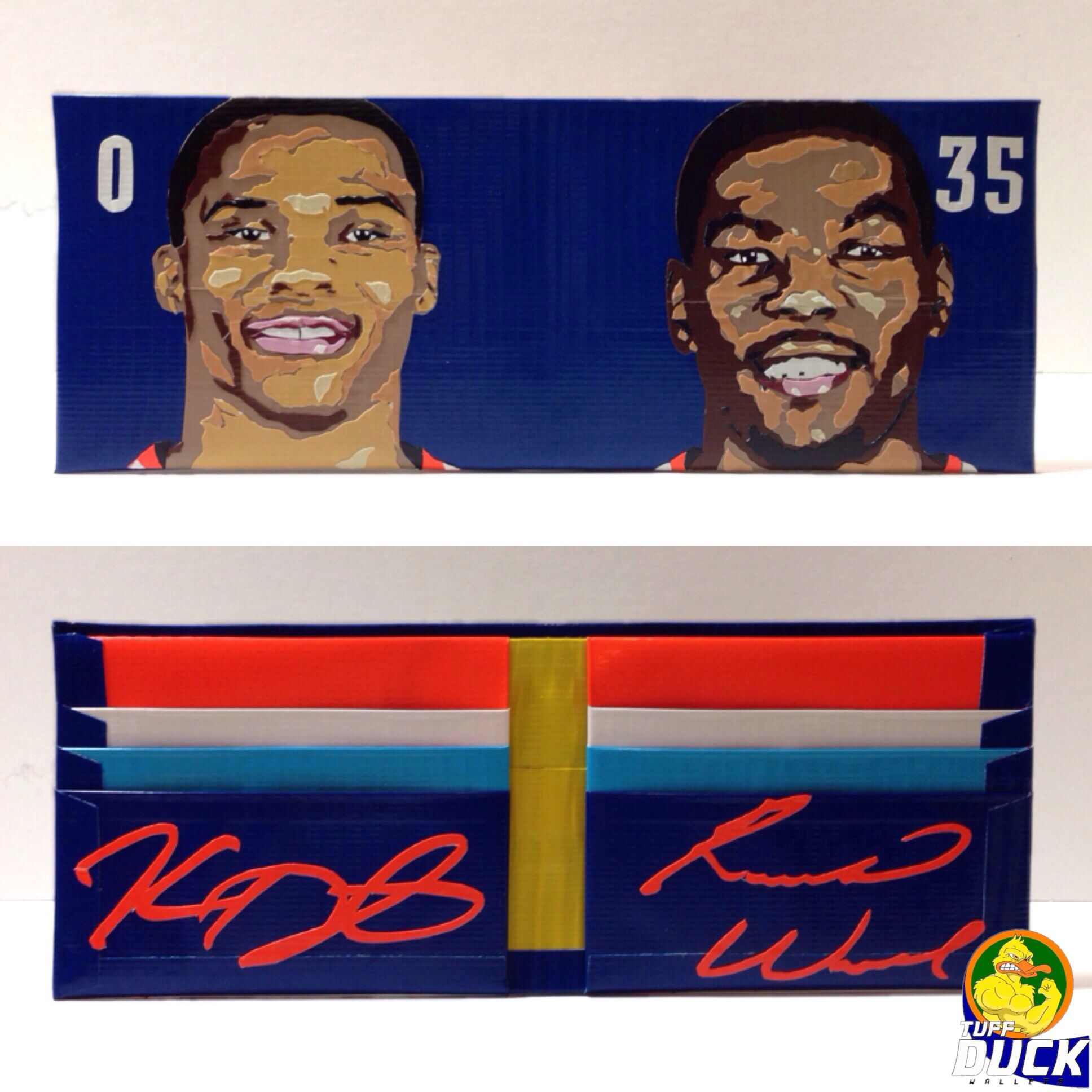 OKC Russel Westbrook and Kevin Durant Duct Tape Wallet