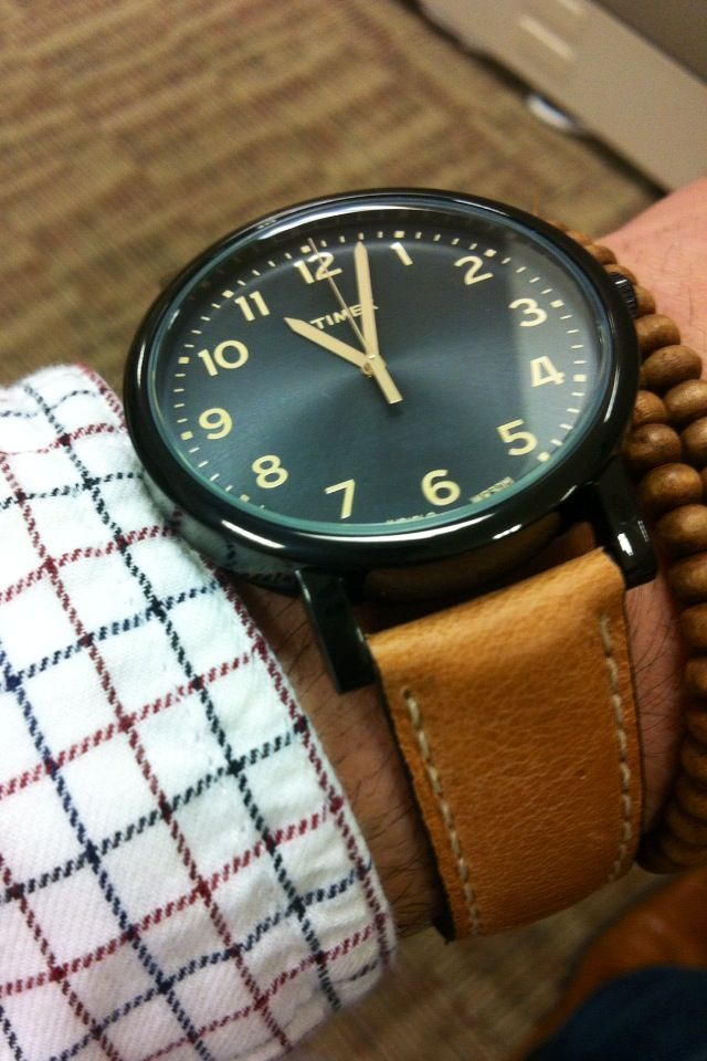 Black and tan timex style watches for men timex watches mens fashion for Black tan watch
