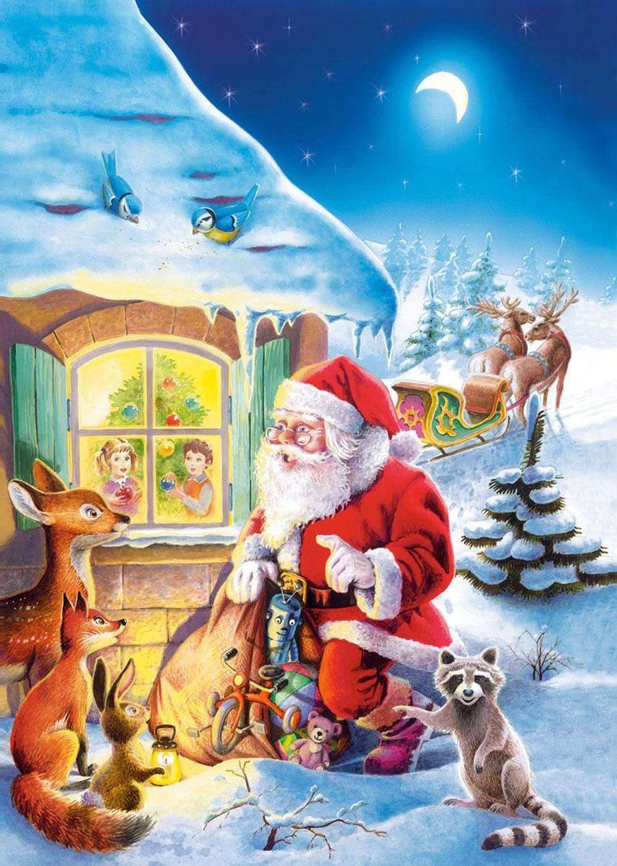 Пазлы новогодние открытки, рисунки тексте открытки