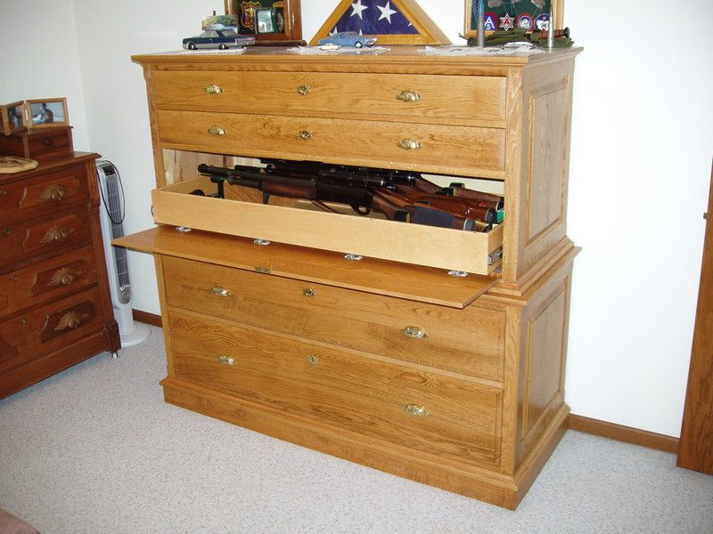 Great Gun Cabinet Disguised As A Dresser