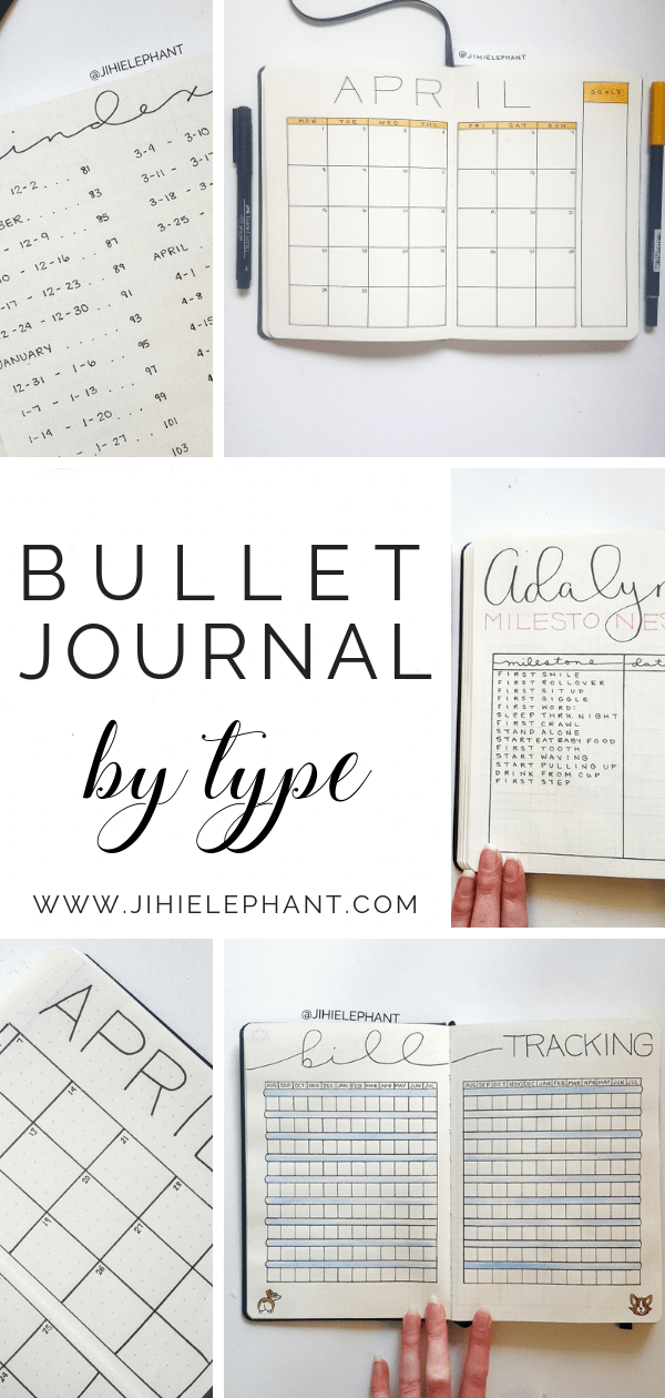 Bullet Journal Layout Ideas by Page Type | ElizabethJournals