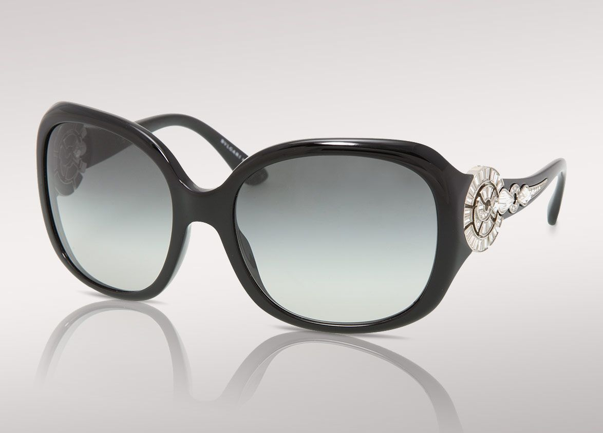 bvlgari sunglasses xurp  Bvlgari Sunglasses with swarovski crystal on side temple arms Limited  Edition